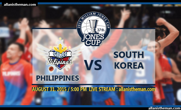 2015 Jones Cup: Gilas Philippines vs South Korea FREE LIVE STREAMING