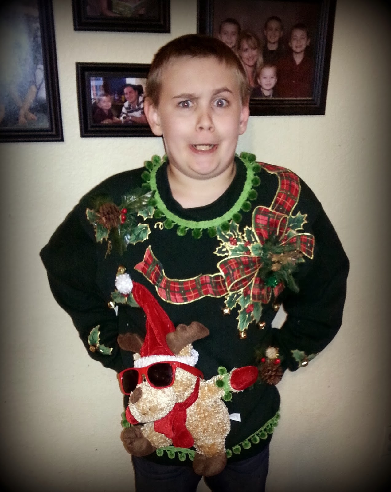 Christmas ugly sweater contest