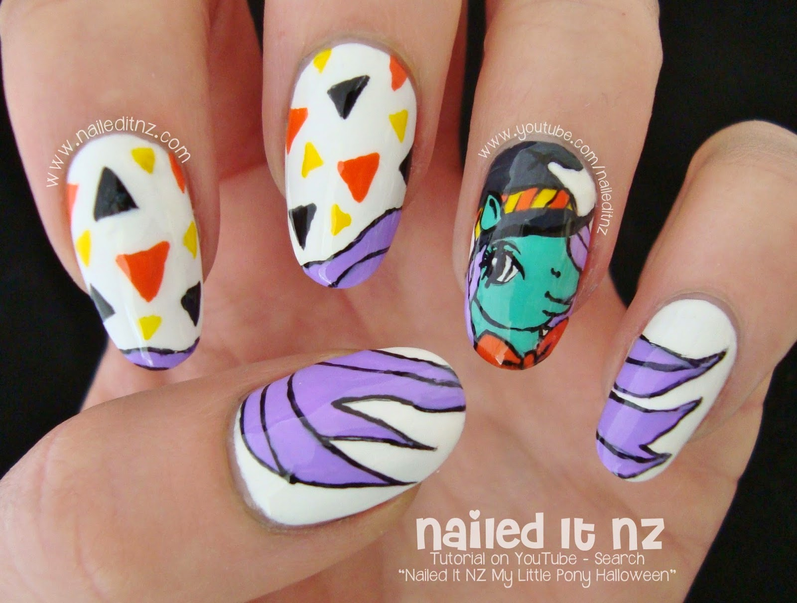 My Little Pony Halloween Nail Art Tutorial