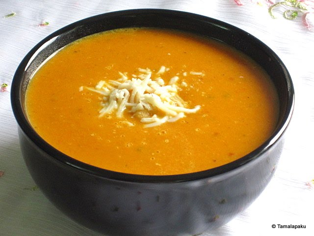Curried Carrot Lentil Soup