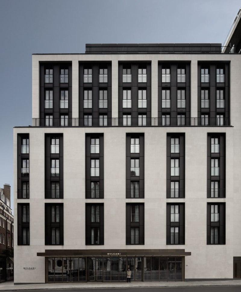 Mode interior hotel bulgari londres mode report for Londres hotel design