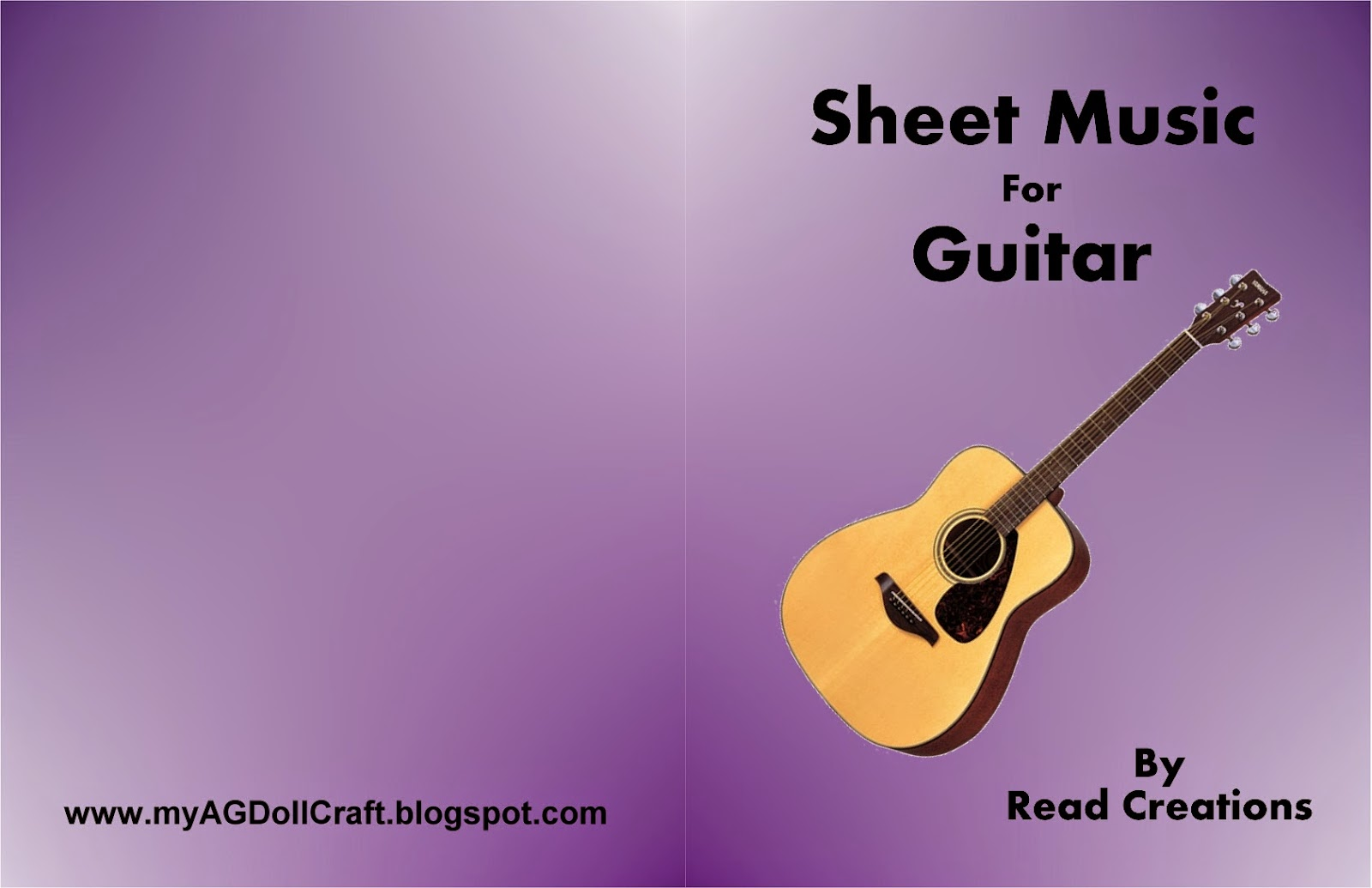 Pretty Book Cover Guitar : Arts and crafts for your american girl doll music books