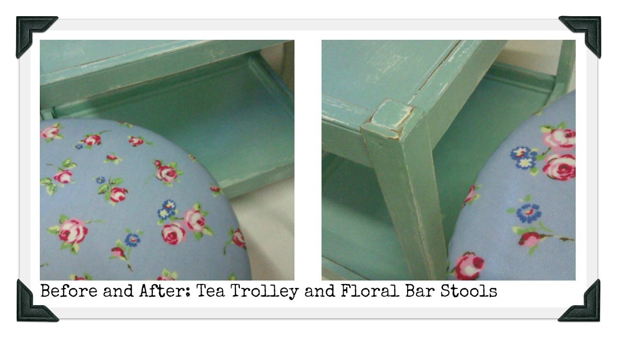 Before And After Tea Trolley Shabby Chic Bar Stools