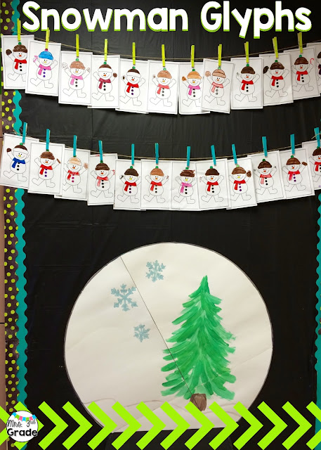 Snowman glyphs are great practice for listening skills and then graphing!