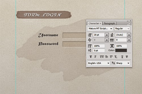 Create a Creative Login with a Soft Textured