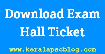 Draftsman Exam 2014 Hall Ticket Download