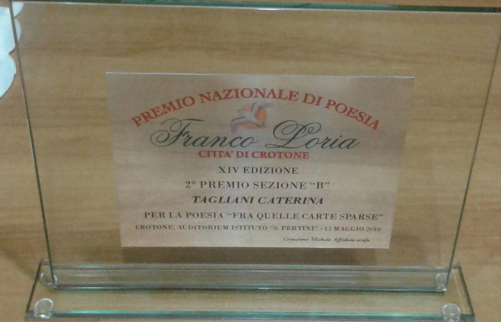 """Premio Nazionale di Poesia """"Franco Loria"""" Crotone, 13 Maggio 2016"""