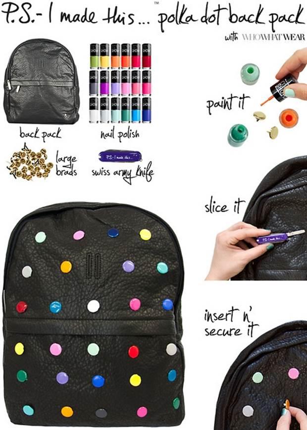 Moda na janela 5 ideias para customizar sua mochila Ideas for hanging backpacks
