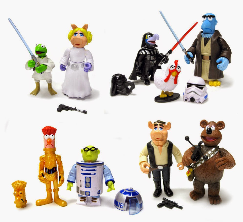 Pack completo figuras Los Teleñecos Star Wars
