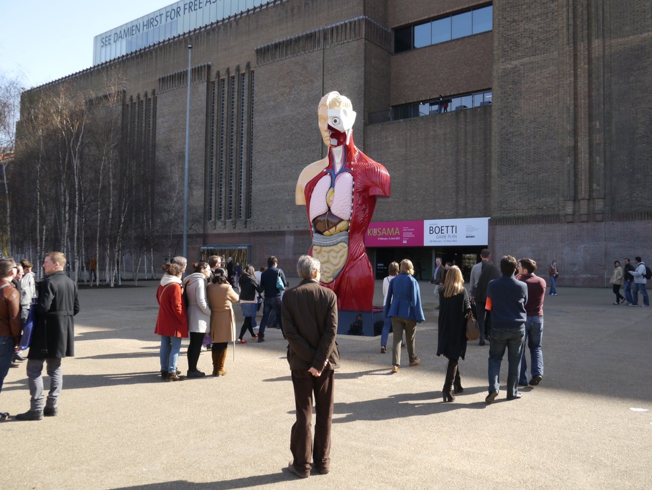 Damien Hirst, Hymn, On View Outside The Tate Modern