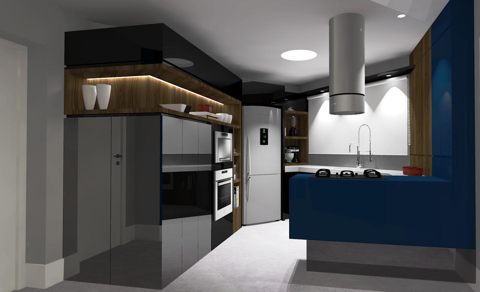 Ilto Gerber: Projeto Interior Cozinha Gourmet #1A4059 1600 975