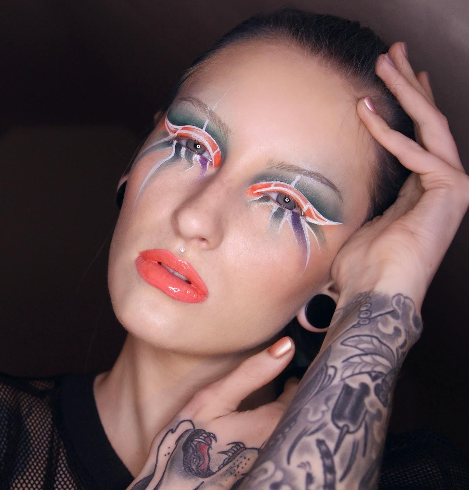 Tropical Bird Abstract Artistic Makeup Tutorial