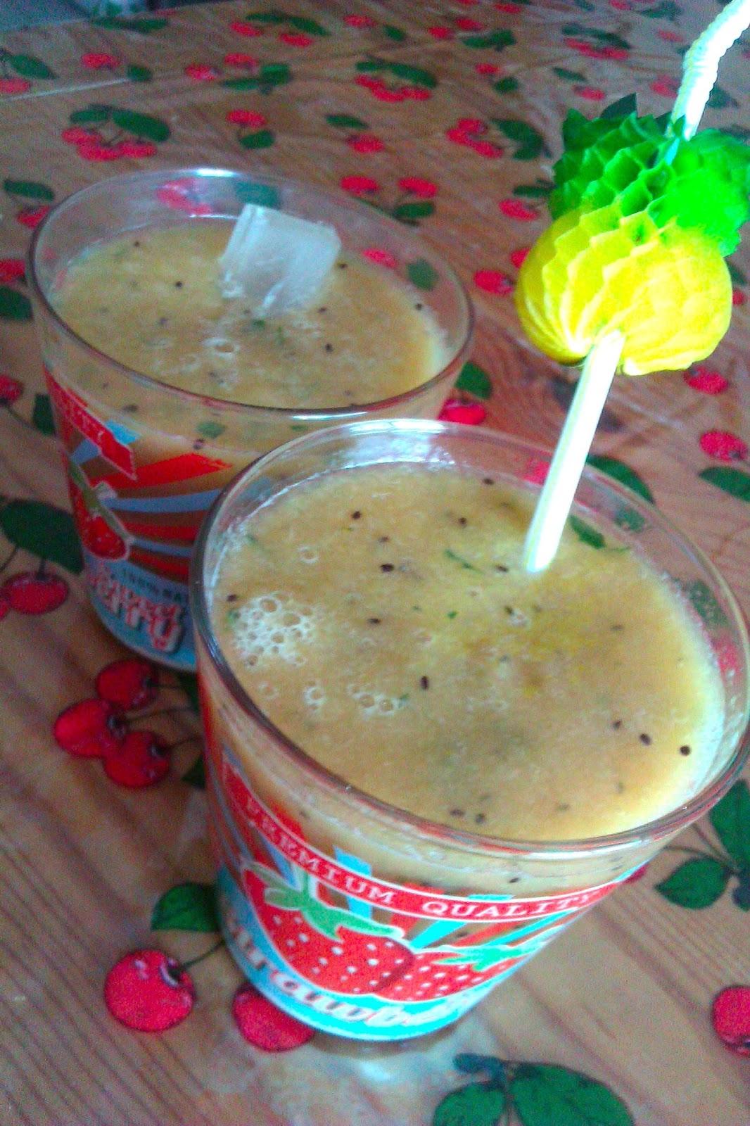roseisarose recette smoothie melon kiwi menthe. Black Bedroom Furniture Sets. Home Design Ideas