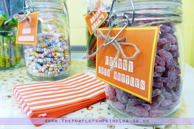 [Orange & Yellow 40th Birthday Party] Tuck Shop/Candy Buffet