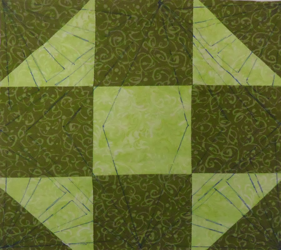 Marked green block