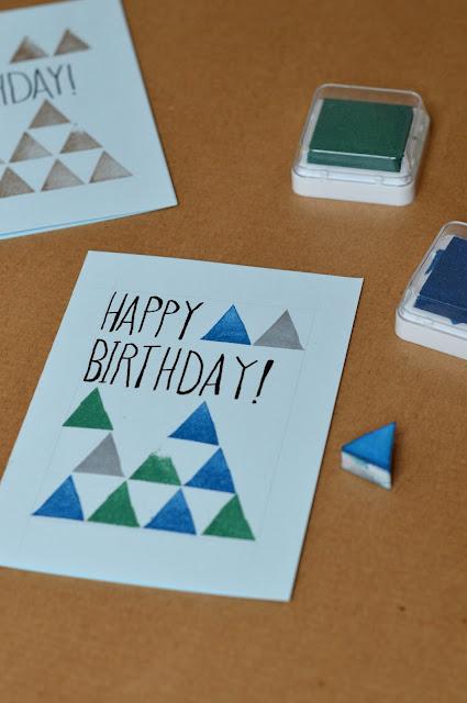 Geburtstagskarte selbermachen mit Stempeln