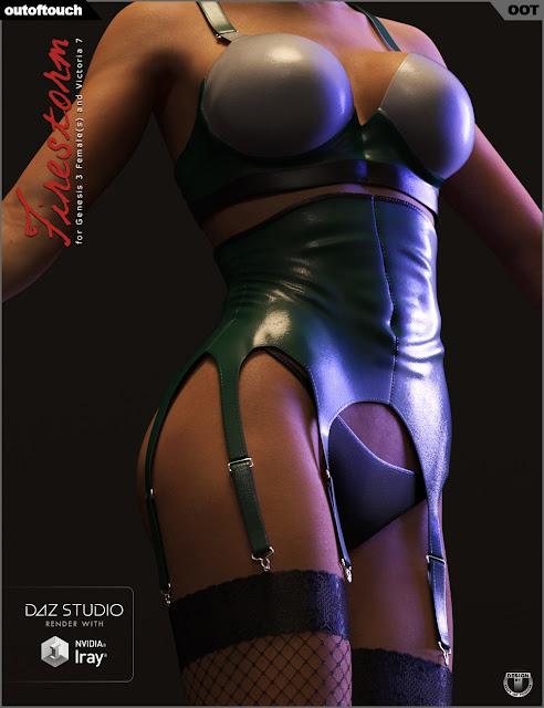 Outfit Firestorm pour Genesis 3 Femme