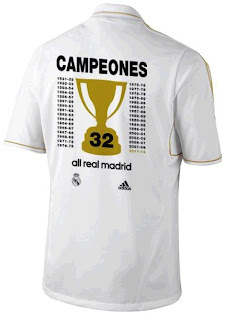 Real Madrid jersey of the 2011-2012 league championship