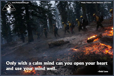Only with a calm mind can you open your heart and use your mind well. –Dalai Lama