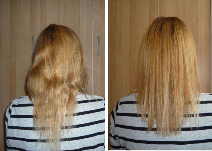 Haarkur ohne silikone mit keratin