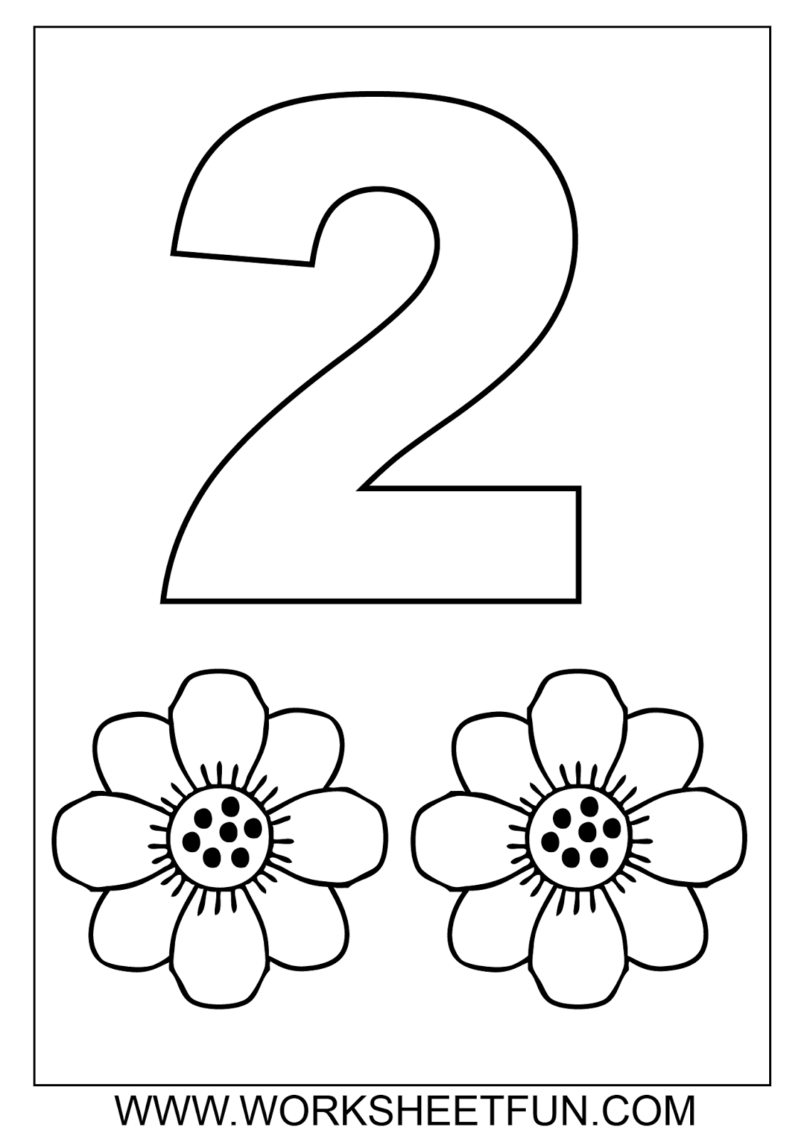 Number 2 Preschool Coloring Worksheets Coloring Pages Number Two Coloring Page