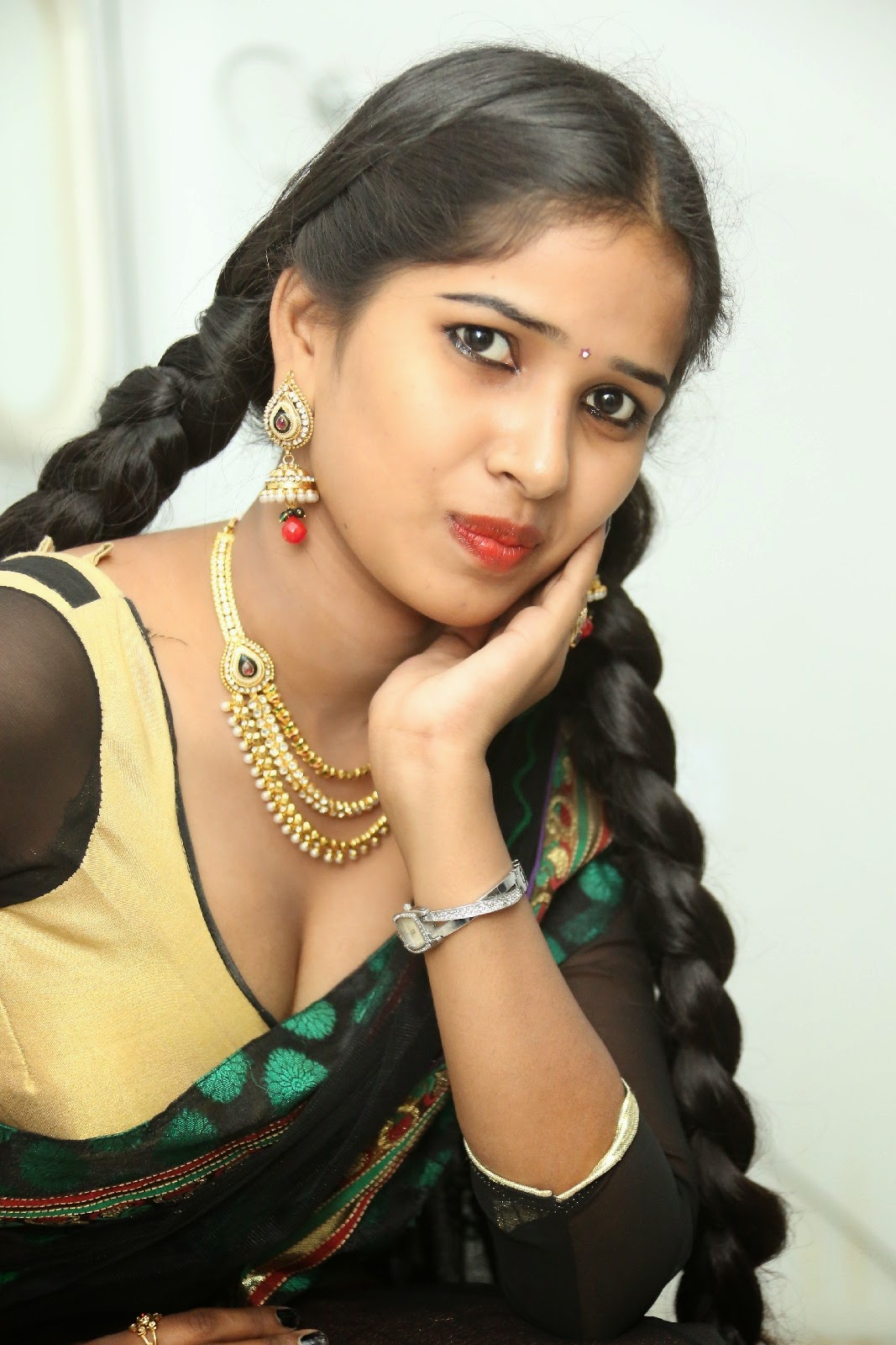 Myna hot half saree photos-HQ-Photo-8
