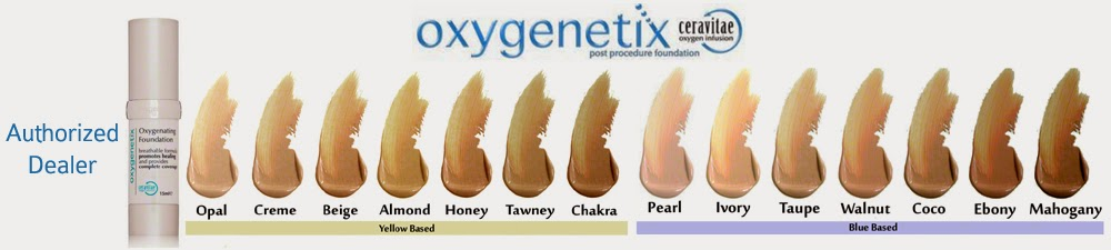 Oxygenetix Foundation has a full line of colors.