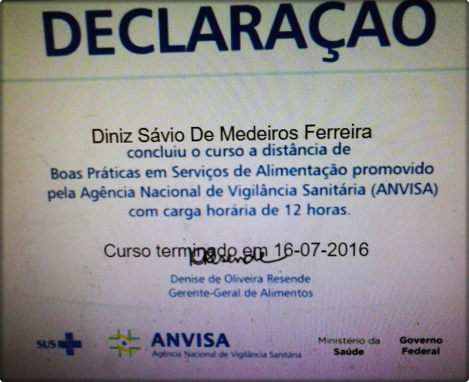 CERTIFICADO DA ANVISA