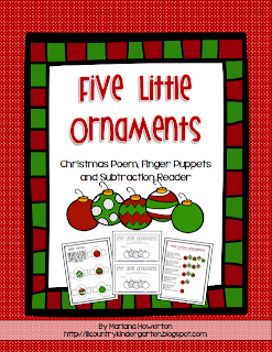 http://www.teacherspayteachers.com/Product/Five-Little-Ornaments-Subtraction-Emergent-Reader-and-More-Christmas-ELA-Math-1013809