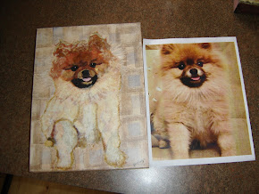 Torn Paper Pet Portrait -- Samson