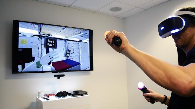 Demonstração do Playstation VR para usar na NASA