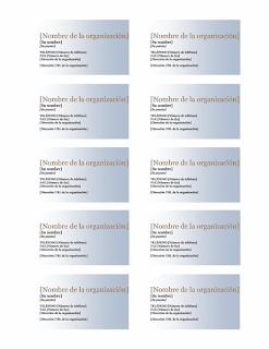 tarjetas de presentación sencillas
