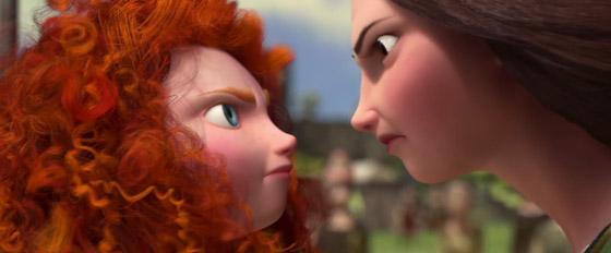 fotograma de la película Brave:Indomable, Mérida y su madre enfrentadas