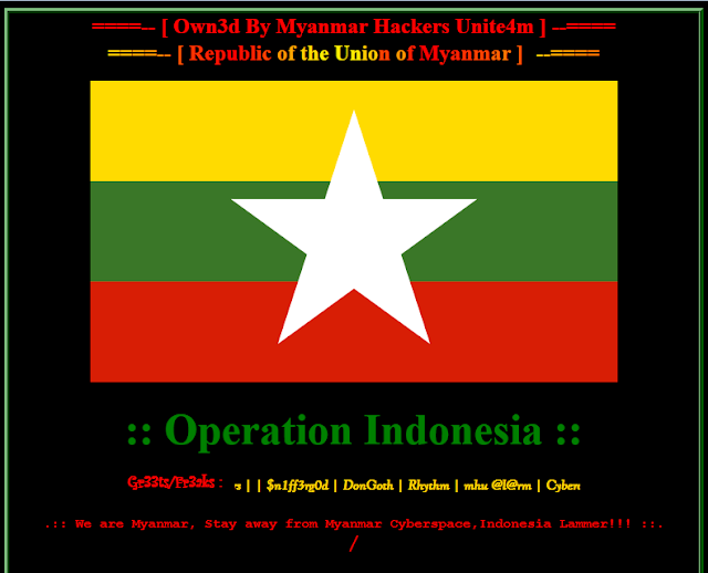 Blogger Indonesia diserang Hacker Myanmar