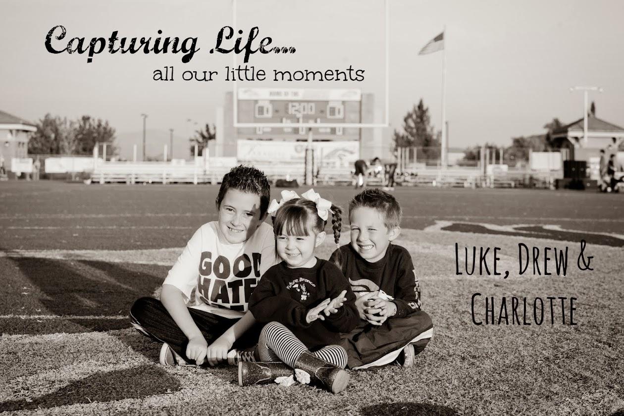 Luke, Drew and Charlotte