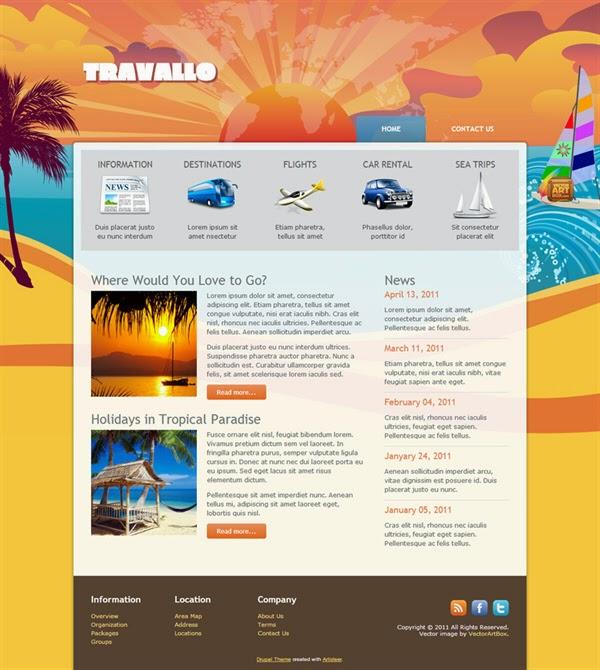 Travallo - Free Drupal Theme