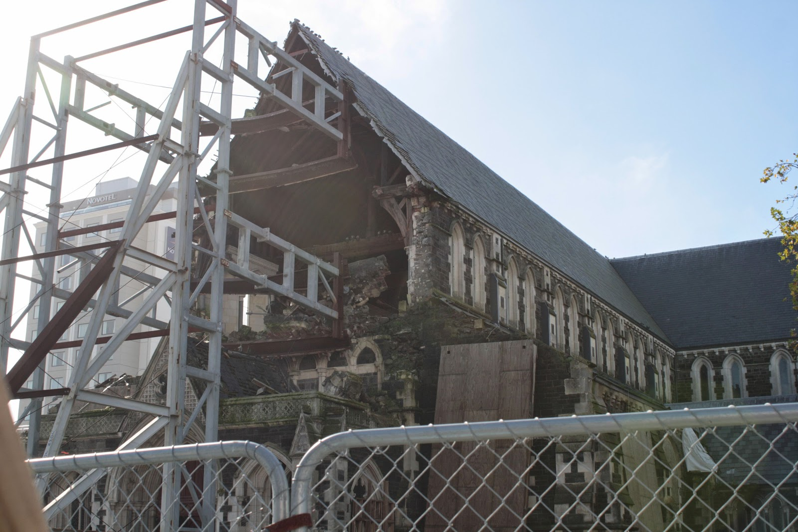 The ruins of the Christchurch Cathedral.