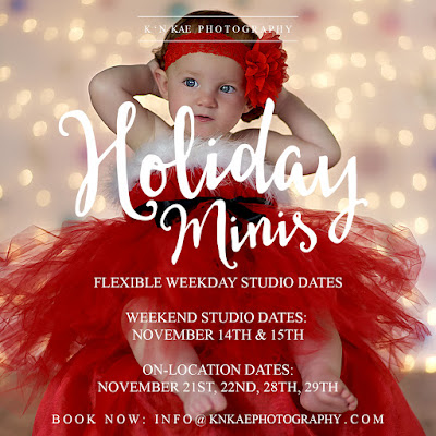 Christmas 2015 Holiday Minis - Book Now to secure availability. First Come First Serve | Limited Spots Available.