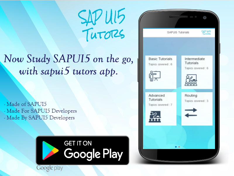 SAP UI5 Tutorials