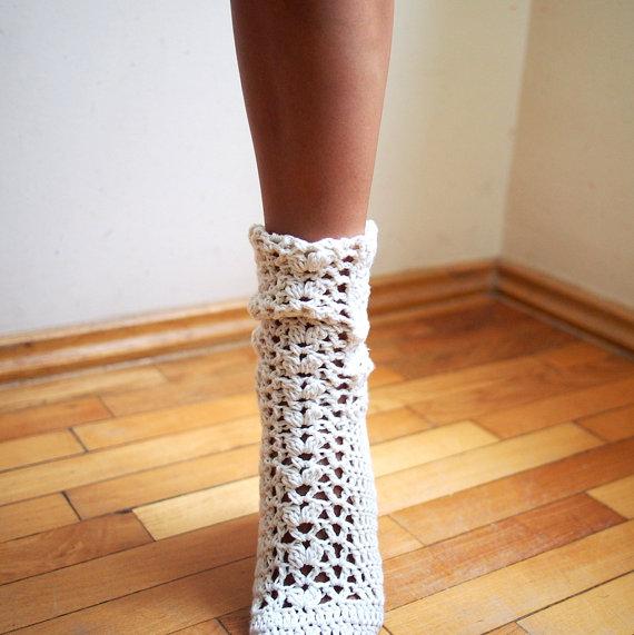 t%C4%B1%C4%9F+i%C5%9Fi+%C3%A7orap+modeli+(3) Tığ İşi Çorap Örneği