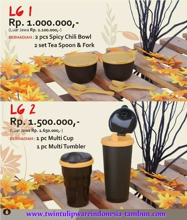 Level Gift - LG Tulipware Tupperware September - Oktober 2014