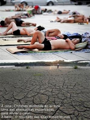 Altas temperaturas. Governo Chinês irá gastar 32 milhões de dólares com chuva artificial.