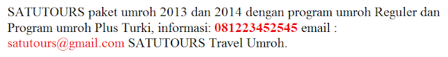 Info Paket Travel Umroh 2014 Jakarta Selatan