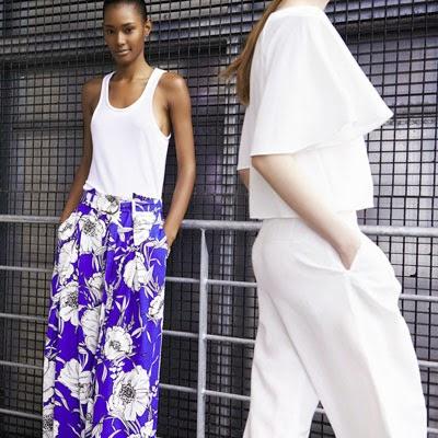 Zara primavera verão calca pantalona floral e kimono cropped