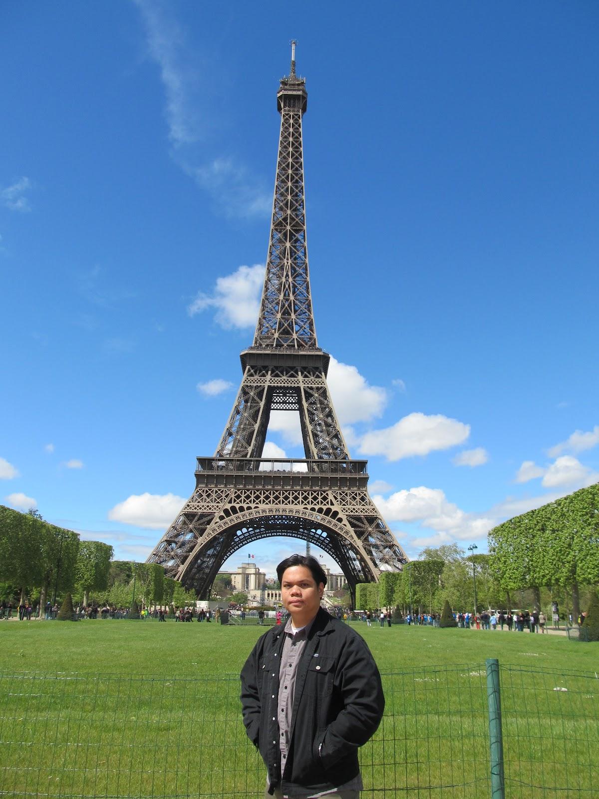 Paris France Eiffel Tower from Champ de Mars