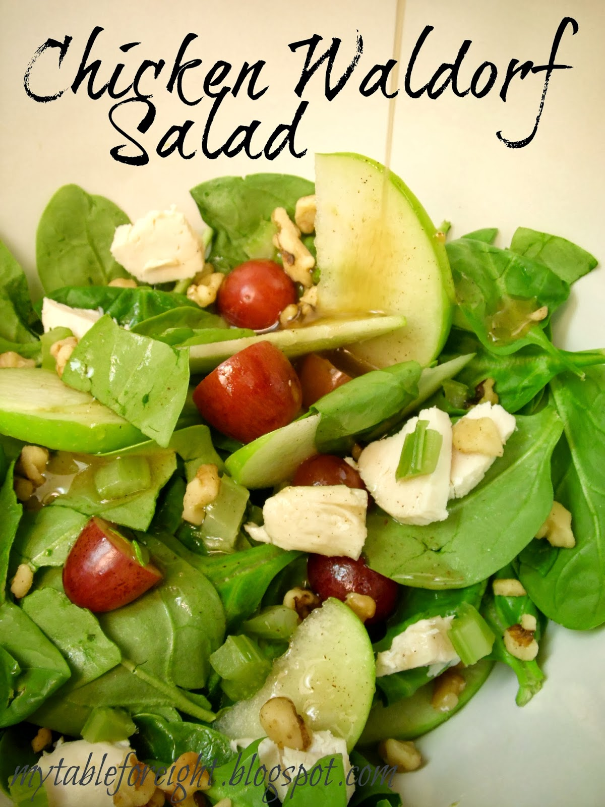 chicken waldorf salad the dressing on this salad is popping with ...