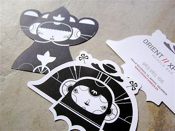 cartões de visita criativos - OrientXpress