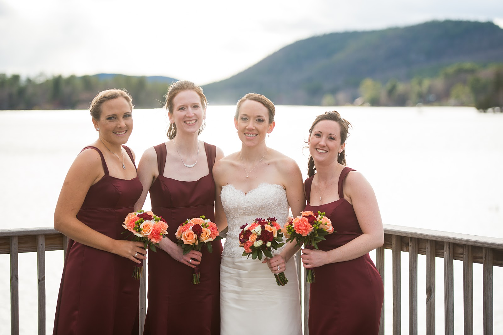 Whats baking in the barbershop wedding wednesdays bridesmaid i was so fortunate to have three beautiful ladies by my side on our wedding day in november from left to right in the picture above there is my college ombrellifo Image collections