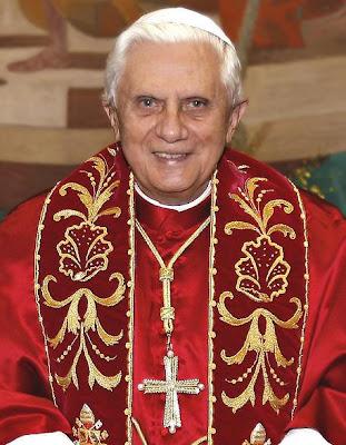 pope benedict xvi scary. now Pope Benedict XVI,