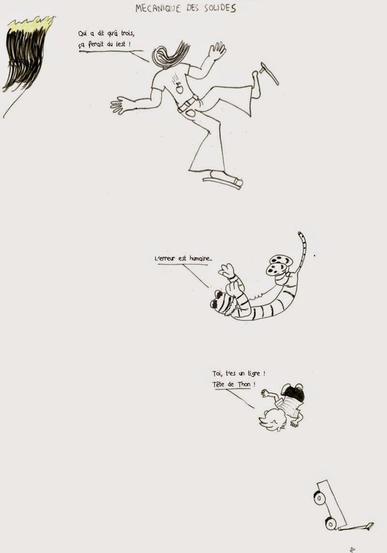 MECANIQUE DES SOLIDES, strip de Zéda dans l'univers de Calvin et hobbes de Watterson